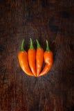 Померанцовый chili Стоковое Изображение