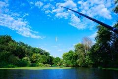 Померанцовый twister для рыболовства Стоковые Изображения