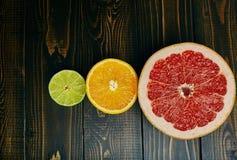 померанцы известок лимонов цитрусовых фруктов Стоковая Фотография