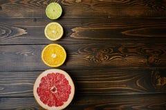 померанцы известок лимонов цитрусовых фруктов Стоковые Изображения RF