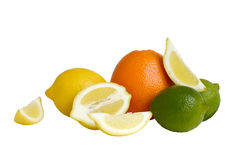 померанцы известок лимонов цитрусовых фруктов Стоковое Фото