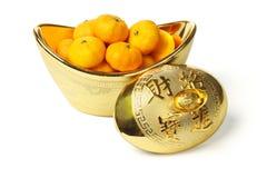 померанцы мандарина золотого ингота Стоковые Фото
