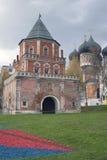 Поместье Izmailovo в Москве Собор Interseccion и башня моста Стоковое фото RF