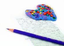 пометьте буквами влюбленность Стоковые Изображения RF