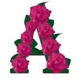 Пометьте буквами иллюстрацию цветка a милую Стоковые Изображения RF