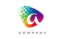 Пометьте буквами красочный логотип радуги для того чтобы конструировать Стоковое Фото
