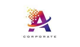 Пометьте буквами красочный логотип радуги для того чтобы конструировать Стоковое Изображение