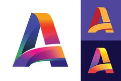 Пометьте буквами начальный логотип вектора для того чтобы конструировать на различных предпосылках Иллюстрация вектора