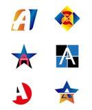 Пометьте буквами логотип a для того чтобы конструировать Стоковые Изображения RF