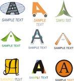 Пометьте буквами логотип иллюстрация штока