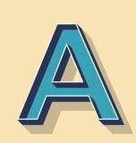 Пометьте буквами ретро стиль текста вектора, концепцию шрифтов Стоковая Фотография