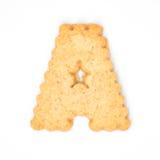 Пометьте буквами a сделал из печенья шутихи Стоковое Изображение