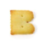 Пометьте буквами b сделанный из изолированного печенья шутихи на белой предпосылке Стоковые Фотографии RF