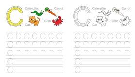 Пометьте буквами c Выучите почерк бесплатная иллюстрация