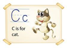 Пометьте буквами c Стоковое Изображение