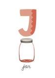 Пометьте буквами j Иллюстрация вектора