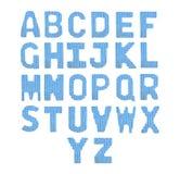 Помечает буквами английский алфавит Синь цвета Стоковая Фотография RF