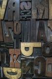 помечает буквами деревянное Стоковое Изображение