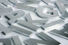 помечает буквами нержавеющую сталь стоковая фотография rf