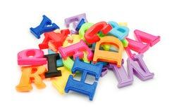помечает буквами пластмассу Стоковое Изображение RF
