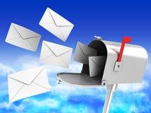 помечает буквами почтовый ящик много Стоковая Фотография RF
