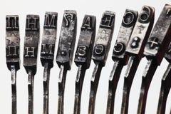 помечает буквами старую машинку Стоковая Фотография
