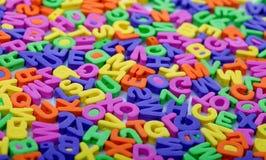 помечает буквами multicolor Стоковая Фотография RF