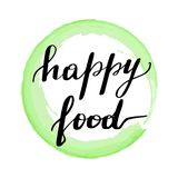 Помечать буквами еду надписи счастливую иллюстрация штока