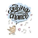Помечать буквами надпись Весна еще один шанс иллюстрация штока