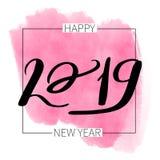 Помечать буквами новое надписи 2019 счастливое иллюстрация штока