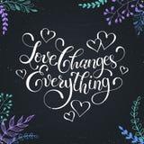 Помечать буквами о влюбленности иллюстрация штока