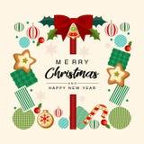 помечать буквами приветствий рождества карточки веселый иллюстрация вектора