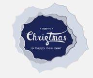 Помечать буквами рождество знака веселое и счастливый Новый Год иллюстрация вектора