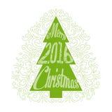 Помечать буквами с Рождеством Христовым вектор Стоковая Фотография RF