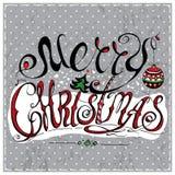 Помечать буквами с Рождеством Христовым Стоковое Фото
