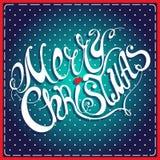 Помечать буквами с Рождеством Христовым Стоковое Изображение RF