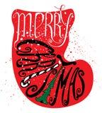 Помечать буквами с Рождеством Христовым Стоковые Фотографии RF