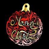 Помечать буквами с Рождеством Христовым иллюстрация штока