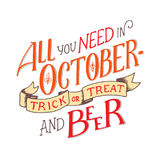 Помечать буквами цитату о октябре Состав литерности Стоковые Фотографии RF