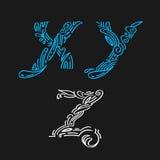 Помечающ буквами установленную нарисованную дизайн-руку Стоковое Изображение RF