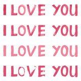 помечая буквами влюбленность i вы Стоковое Изображение RF