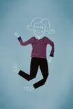 Помещенные одежды в действии с чертежом женщины Стоковое фото RF