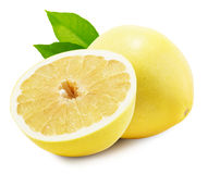 Помело или китайский грейпфрут на белой предпосылке Стоковые Фотографии RF