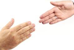 помогать руки Стоковые Изображения