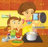 помогая домашняя мама Стоковые Изображения