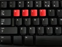 помогите клавиатуре Стоковое Фото