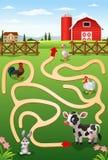 Помогите корове найти ферма иллюстрация штока