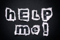 Помогите мне! Стоковое Изображение