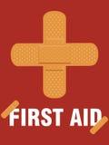 помогите первому медицинскому гипсолиту Стоковое фото RF