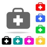 помогите первому набору иконы Значки пожарных элемента multi покрашенные для передвижных apps концепции и сети Значок для дизайна иллюстрация штока